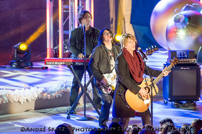John Rzeznik and the Goo Goo Dolls perform at the lighting ceremony for the Rockefeller Center Christmas Tree in New York City