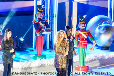 Leona Lewis performs at the lighting ceremony for the Rockefeller Center Christmas Tree in New York City