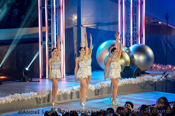 The Rockettes perform during the 81st Annual Rockefeller Center Christmas Tree Lighting Ceremony