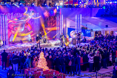 John Rzeznik and the Goo Goo Dolls perform at the lighting ceremony for the Rockefeller Center Christmas Tree in New York City