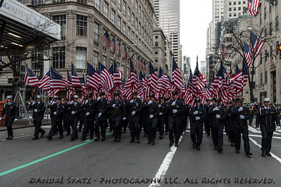 343 Honor Company. FDNY Color Guard  - FDNY Banner,