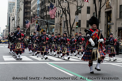 Pipes & Drums head up Fifth Avenue