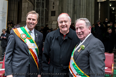 Vice Chairman of the parade, Dr. John L. Lahey., Edward Cardinal Egan, Grand Marshall Alfred E. Smith IV,