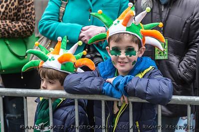 Revelers celebrate near the parade.