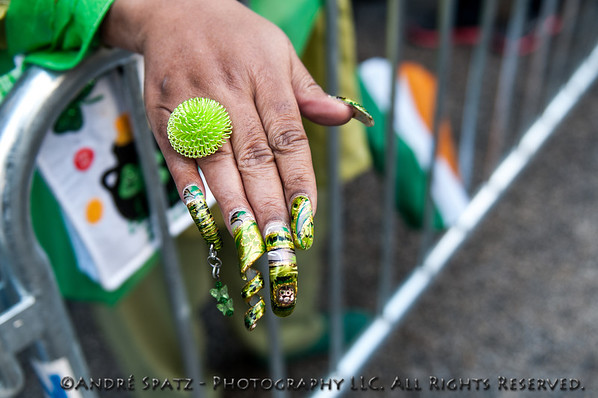 At the St. Patrick's Day Parade in NYC