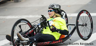Second place in the women handcycle category: Helene Hines, NY USA