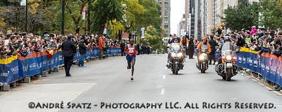 The winner of the NYC Marathon 2013, Geoffrey Mutai, 02:08:24 from Kenya