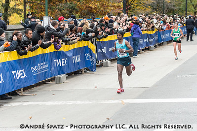 The second place of the NYC Marathon, Tsegaye Kebede- 02:09:16 from Ethiopia