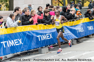 The fourth place of the NYC Marathon: Julius Arile -02:10:03 from 	Kenya