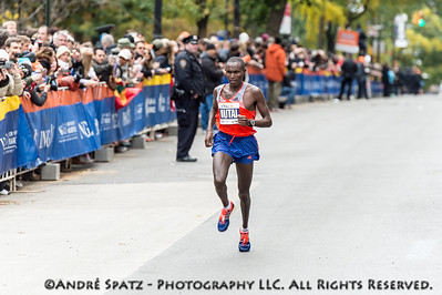 The winner of the NYC Marathon 2013, Geoffrey Mutai, 02:08:24 from Kenya