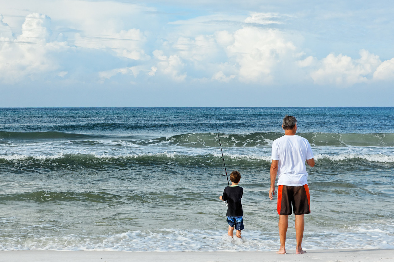 Father and Son Fishing - Seaside, Florida