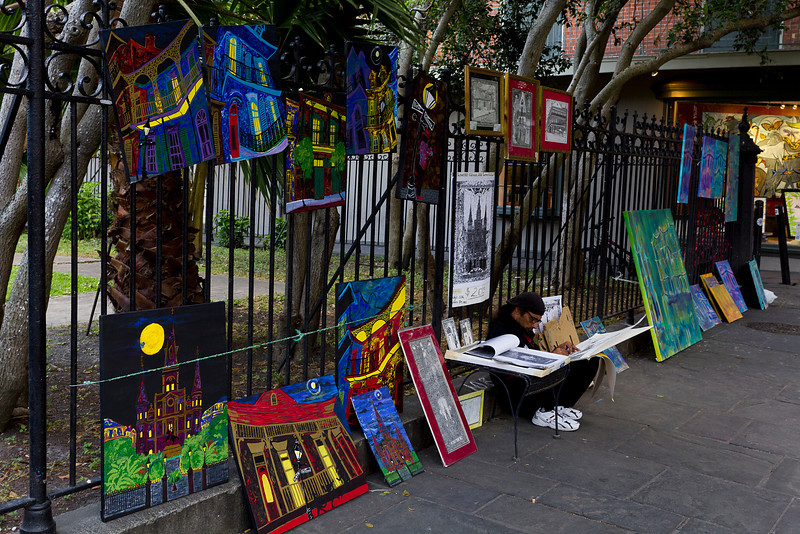 Street Artist - New Orleans, Louisiana