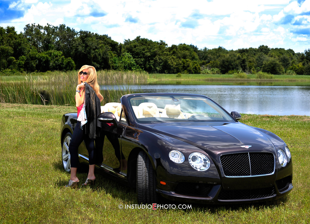 Continental GTC V8 Bentley with Susan Bulkin-Short by InstudioEphoto.com