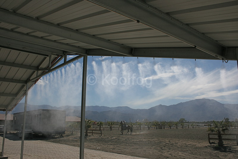 Porch Area Under Mist