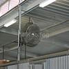 Misting Fan Inside Barn