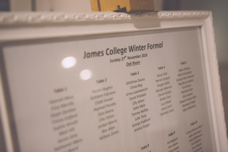 James College: Winter Formal 2016