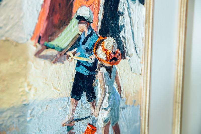 Sherree Valentine Daines Painting Live at Whitewall Gallery, Birmingham