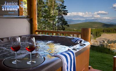 NSMV-8649 Hot Tub with Rockies