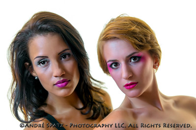 Runway Fashion photo shoot. Models: Carolina and Kristina
