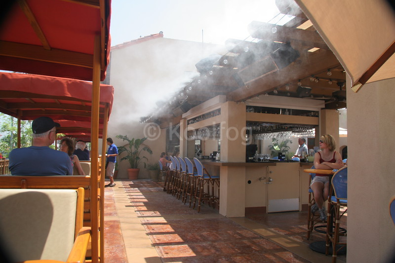 Misting in Bar Area