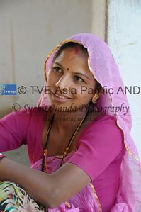 Mobile phone use in Rural Rajasthan (Village near Pushkar): Sayar Singh, Chamunda Matha Road, Pushkar, Rajasthan, India.
