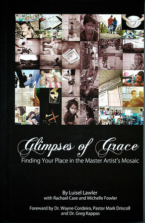The cover of Glimpses of Grace, featuring my photography.