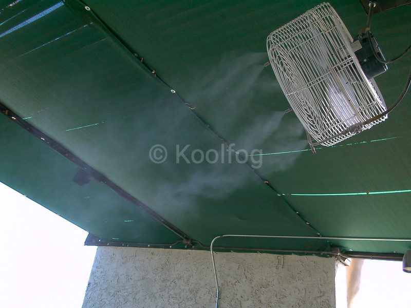 Fixed Fan Under Awning
