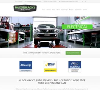 Website Design for McCormack's Auto Service