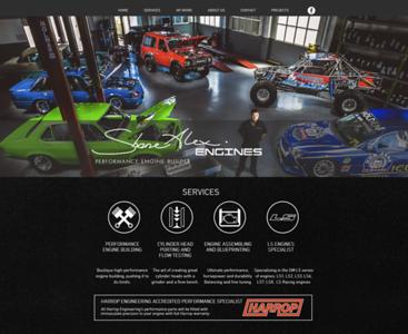 Website Design for Shane Alex Engines
