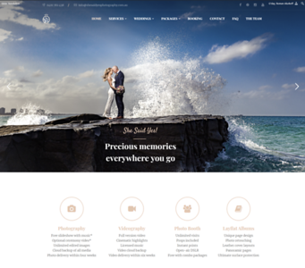 Website Design for She Said YES! Wedding Film & Photography