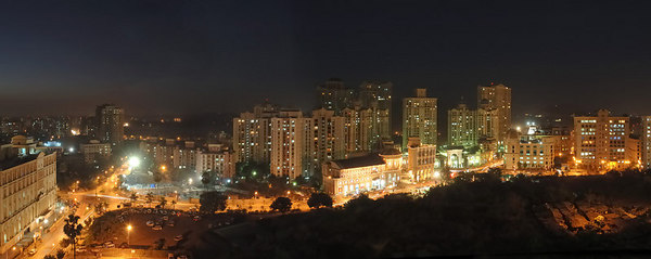Panoramic image of Powai prepared for Rodas Hotel. Print size 81 inches by 204 inches (6.75 ft by 17 ft)