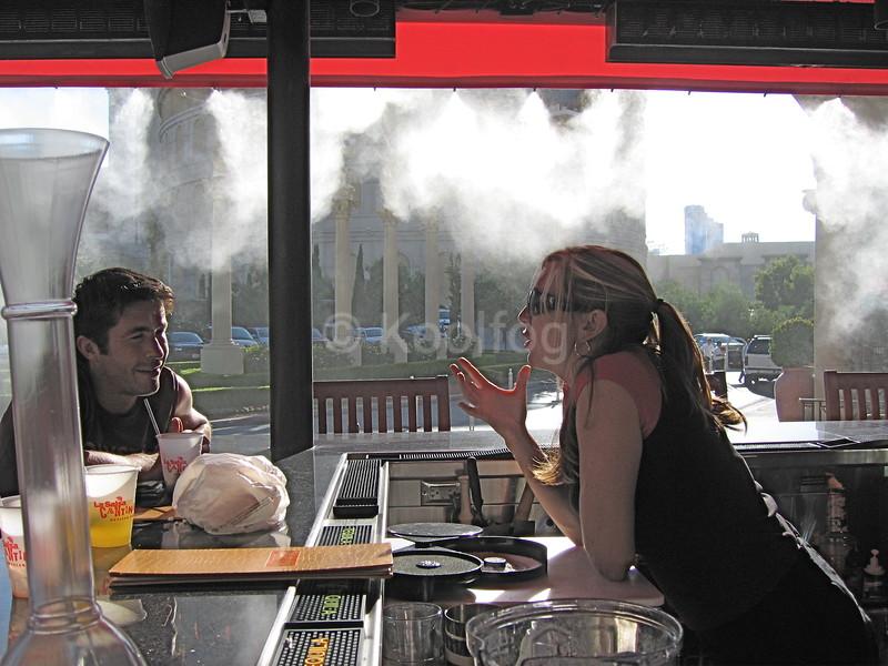 La Salsa Bartender Under Mist