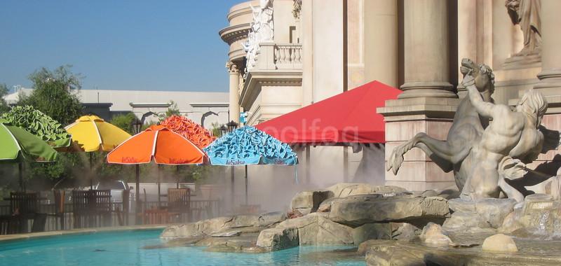 La Salsa Umbrellas at Distance