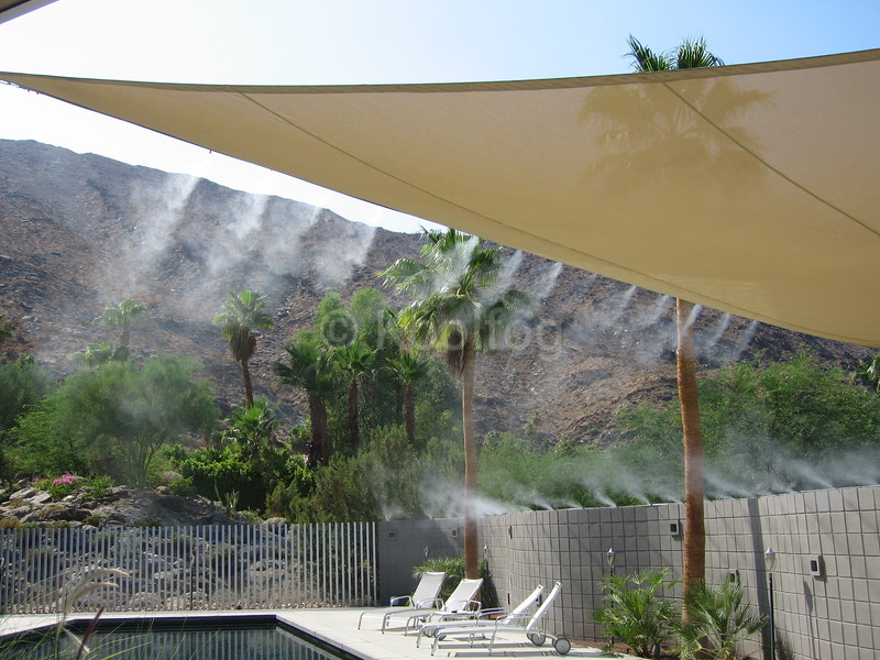 Awning with Misting