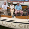 Dean & Kay Snider, Dave Curtin<br /> Dean Snider is Past Commodore<br /> They are aboard Little Oil