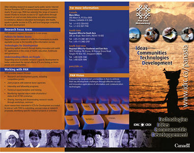 Few of my images in the IDRC Pamphlet for PAN