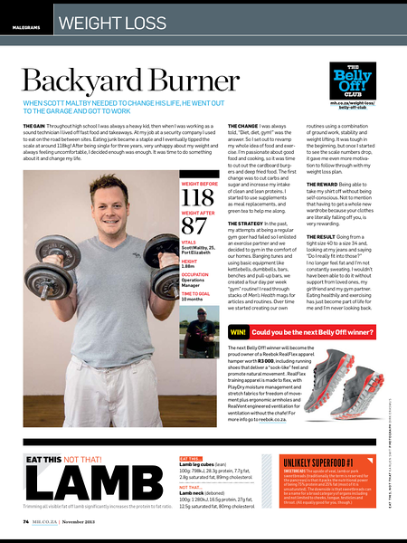 Men's Health Oct2013
