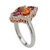 ReuvenGitter-Two Tone Mandarine Garnet Ring Side View