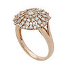 ReuvenGitter-Rose Gold Concentric Circles of Diamonds Ring side view