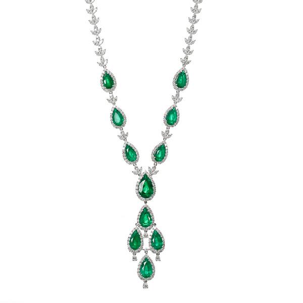 Hakimi-Emerald Diamond Neck Suspended-Edit