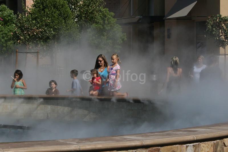 Families Enjoy New Fog Feature