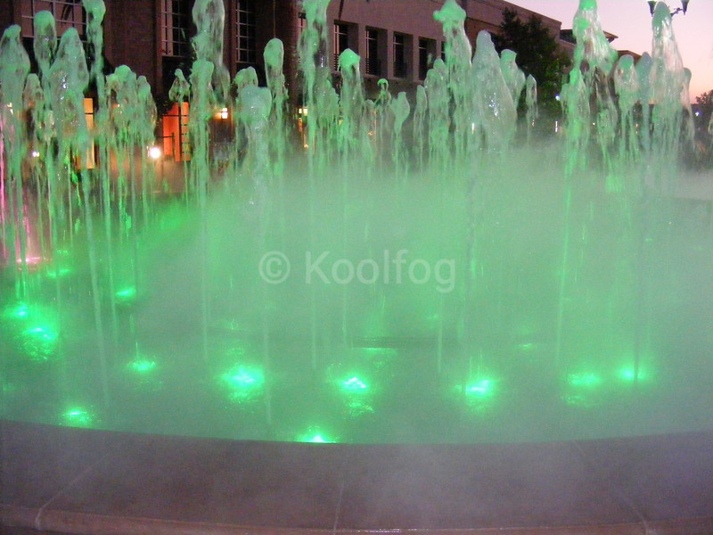 Green Lighting Accented by Fog