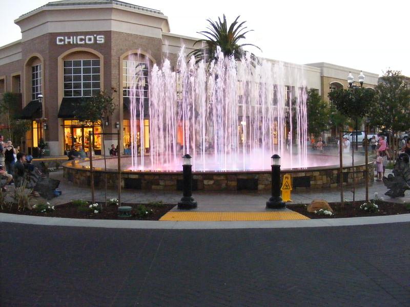 Fountain Show at Dusk