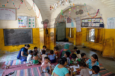 Children playing at the Mobile Creches, Seemapuri Centre.  Mobile Creches works with birth to 12 year old children living on the construction sites and slums of Delhi(NCR) since 1969. Integrated Daycare Centers for children on construction sites are run. Mobile Creches has so far reached out to 7,50,000 children, trained 6,500 women as childcare workers, run 650 daycare centres and partnered with 200 builders.  Mobile Creches runs daycares centres where children are provided education, nutrition and healthcare. Community-women and NGOs are trained to provide care and speak-up for the child. The years of experience along with strong-networks helps in the advocacy for policy-change.