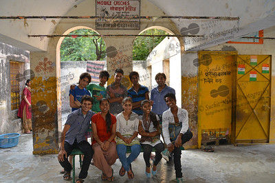 Youth volunteers at the Mobile Creches run Centre in Seemapuri, Delhi.  Mobile Creches works with birth to 12 year old children living on the construction sites and slums of Delhi(NCR) since 1969. Integrated Daycare Centers for children on construction sites are run. Mobile Creches has so far reached out to 7,50,000 children, trained 6,500 women as childcare workers, run 650 daycare centres and partnered with 200 builders.  Mobile Creches runs daycares centres where children are provided education, nutrition and healthcare. Community-women and NGOs are trained to provide care and speak-up for the child. The years of experience along with strong-networks helps in the advocacy for policy-change.