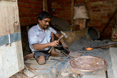 Narayan Vishkarma has a below the waist impairment and mobility issues. He was trained by Nav Bharat Jagriti Kendra (NBJK) under the SWABAL programme and now is a blacksmith earning an independent livelihood.  Nav Bharat Jagriti Kendra (NBJK) was established in 1971 by four engineering graduates who  were sensitive to the causes of disparity, exploitation and poverty with an aim to  establish a just society. Today they are the leading non-profit organization in Jharkhand  running educational institution and health facilities.