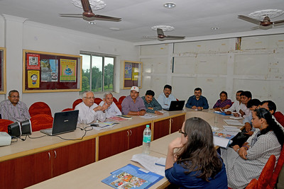 Meeting of programme managers and governance body of Nav Bharat Jagriti Kendra (NBJK) at their office.  Nav Bharat Jagriti Kendra (NBJK) was established in 1971 by four engineering graduates who  were sensitive to the causes of disparity, exploitation and poverty with an aim to  establish a just society. Today they are the leading non-profit organization in Jharkhand  running educational institution and health facilities.