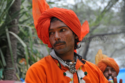 Artists performe folk dances at the Suraj Kund Mela 2008, Haryana, North India. The Suraj Kund Mela is an annual fair held near Delhi. Folk dances, handicrafts and a lot of fun.