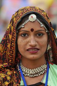 Folk dancers performed dances at Suraj Kund Mela 2008, Haryana, North India. The Suraj Kund Mela is an annual fair held near Delhi. Folk dances are held, handicraft items solds and a lot of entertainment.