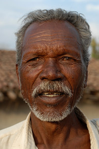 India: Portrait of a man in a village near Nagpur, Maharashtra in India Jan 2007.
